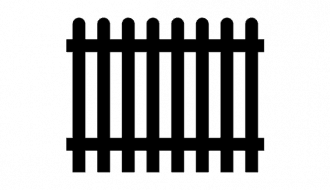 black outline of a fence
