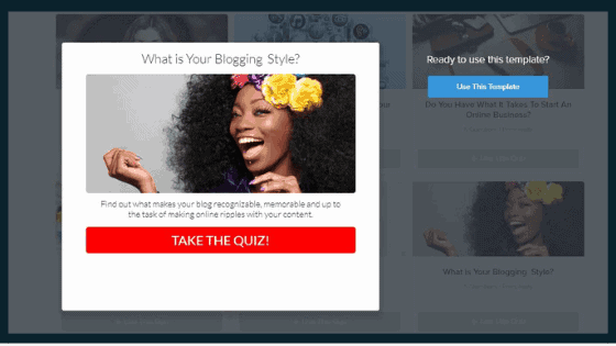 Woman with flower crown and What's your blogging style? quiz template